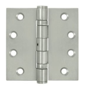 Deltana SS44NB Ball Bearing Non-Removable Pin 4 Inch x 4 Inch Stainless Steel Hinge with Square Corners (Sold in Pairs)