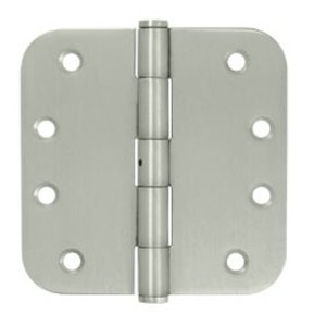 Deltana SS44R5-RN Residential Non-Removable Pin 4 Inch x 4 Inch Stainless Steel Hinge with 5/8 Inch Radius Corners