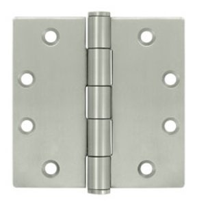 Deltana SS45 Standard 4-1/2 Inch x 4-1/2 Inch Stainless Steel Hinge with Square Corners (Sold in Pairs)