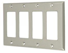 Deltana SWP4744U Quadruple Rocker Switch Plate