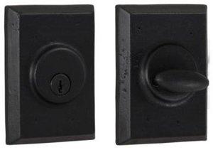Weslock 7971 Square Molten Bronze Collection Single Cylinder Deadbolt