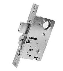 Baldwin 6310.RR Mortise Lock Right Hand Reverse Entrance/Storeroom 2-1/2 Inch Backset for Knob x Knob