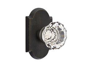 Emtek Astoria Crystal 72 Sandcast Bronze Privacy Knobset