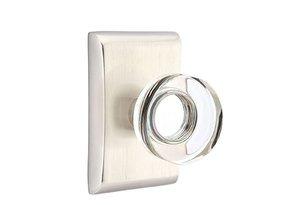 Emtek Modern Disc Crystal 50 Full Dummy Knobset