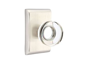 Emtek Modern Disc Crystal 50 SD Single Dummy Knob