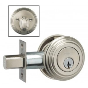 Omnia TRADDBA Traditional Auxiliary Deadbolt From the Prodigy Collection