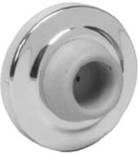 Schlage Ives WS401402-CCV 2-1/2 Inch Brass Concave Wall Bumper with Plastic & Drywall Anchors