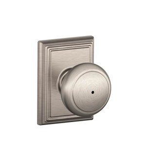 Schlage F40AND/ADD Andover Privacy Knobset with Addison Decorative Rosette