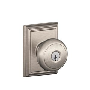 Schlage F51AND/ADD Andover Keyed Entry Knobset with Addison Decorative Rosette
