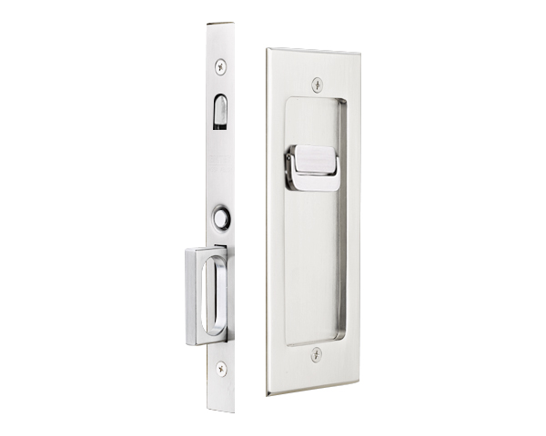 Privacy Pocket Door Hardware 2115 modern rectangular privacy pocket door mortise lock