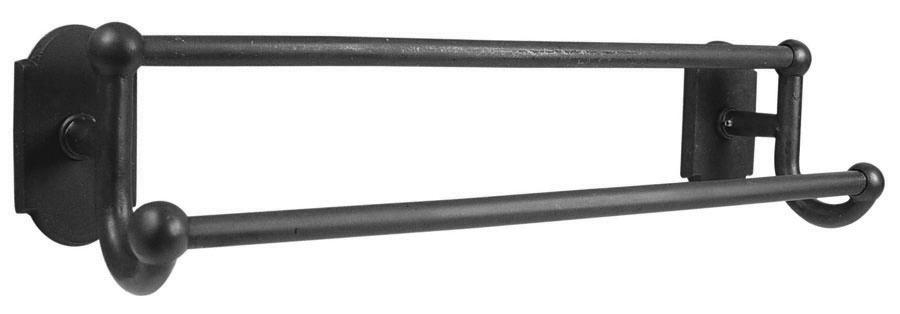 Emtek 23051 Sandcast Bronze 18 Inch Double Towel Bar