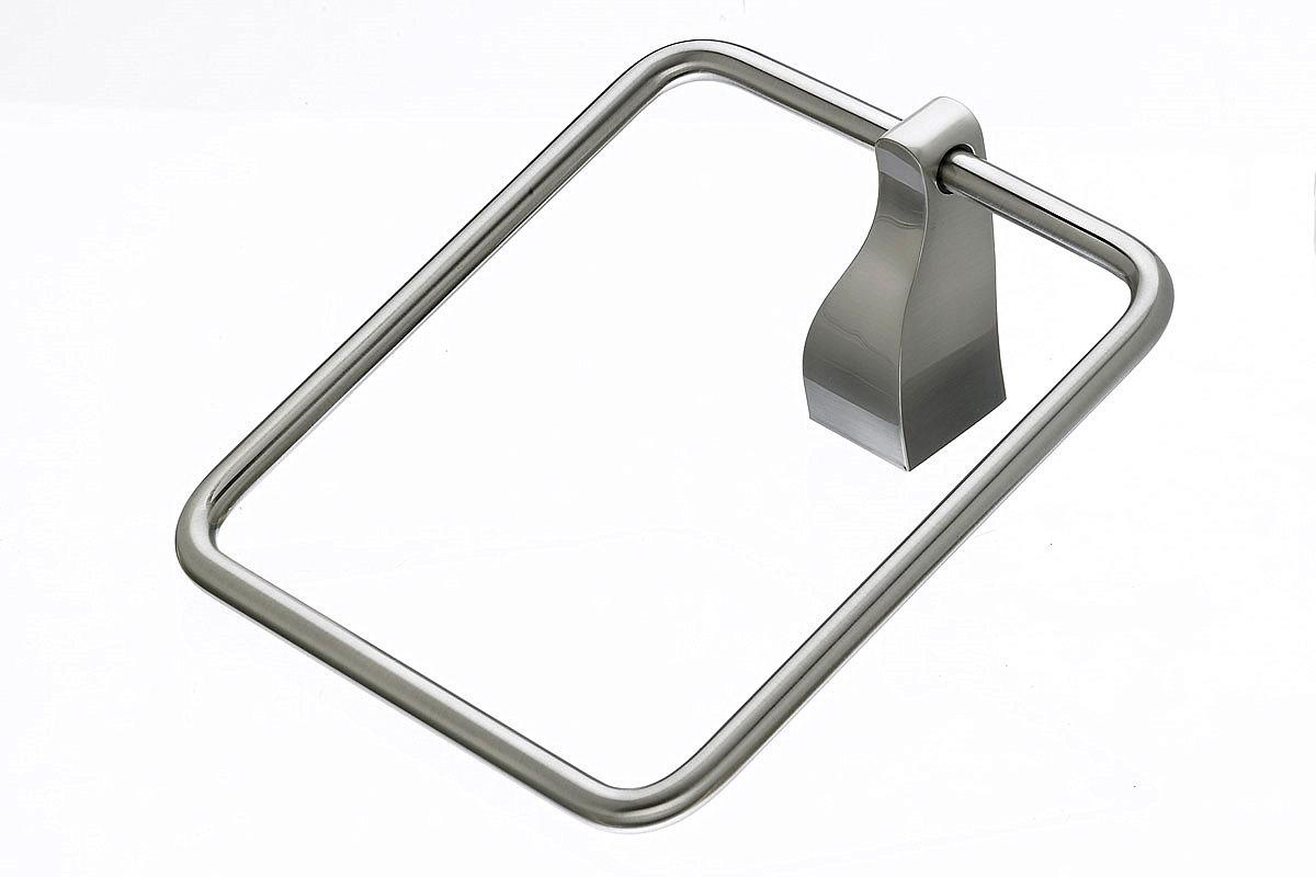 Top knobs aq5bsn aqua bath ring brushed satin nickel for Bathroom knobs brushed nickel