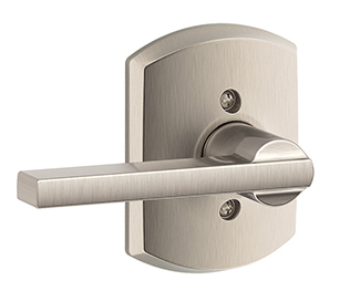 Schlage F170lat Grw Latitude Single Dummy Lever With