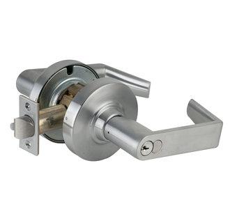 schlage nd80rdrho rhodes storeroom door lever set with full size core - Schlage Door Hardware