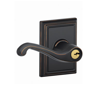 Schlage F51fla Add Flair Keyed Entry Leverset With Addison