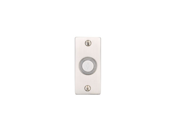 Emtek 2464 Brass Doorbell Button With Small Rectangular
